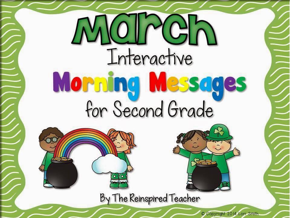 https://www.teacherspayteachers.com/Product/March-Interactive-Morning-Messages-for-2nd-Grade-1753402