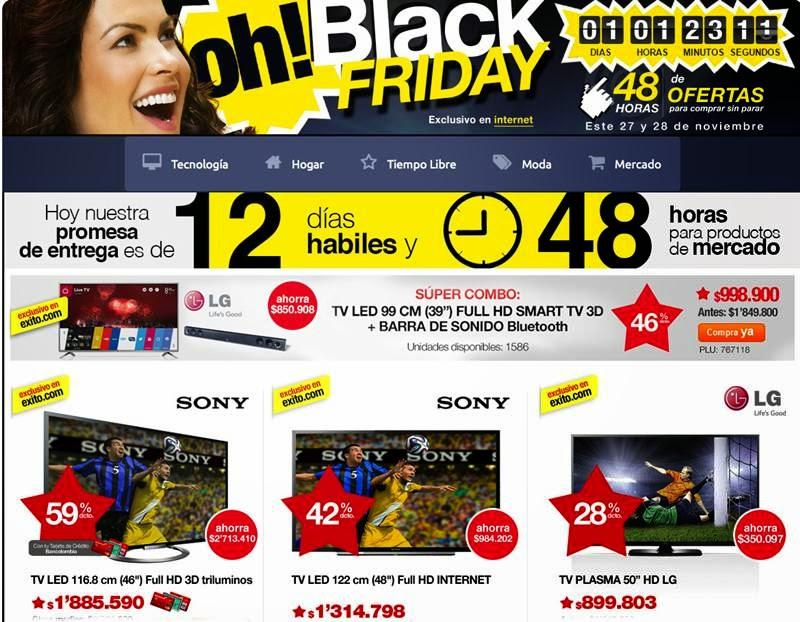 Black Friday 2014 de Exito.com