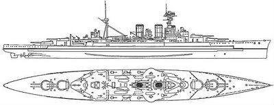 WW2 Battle of Atlantic - HMS Hood Blueprint