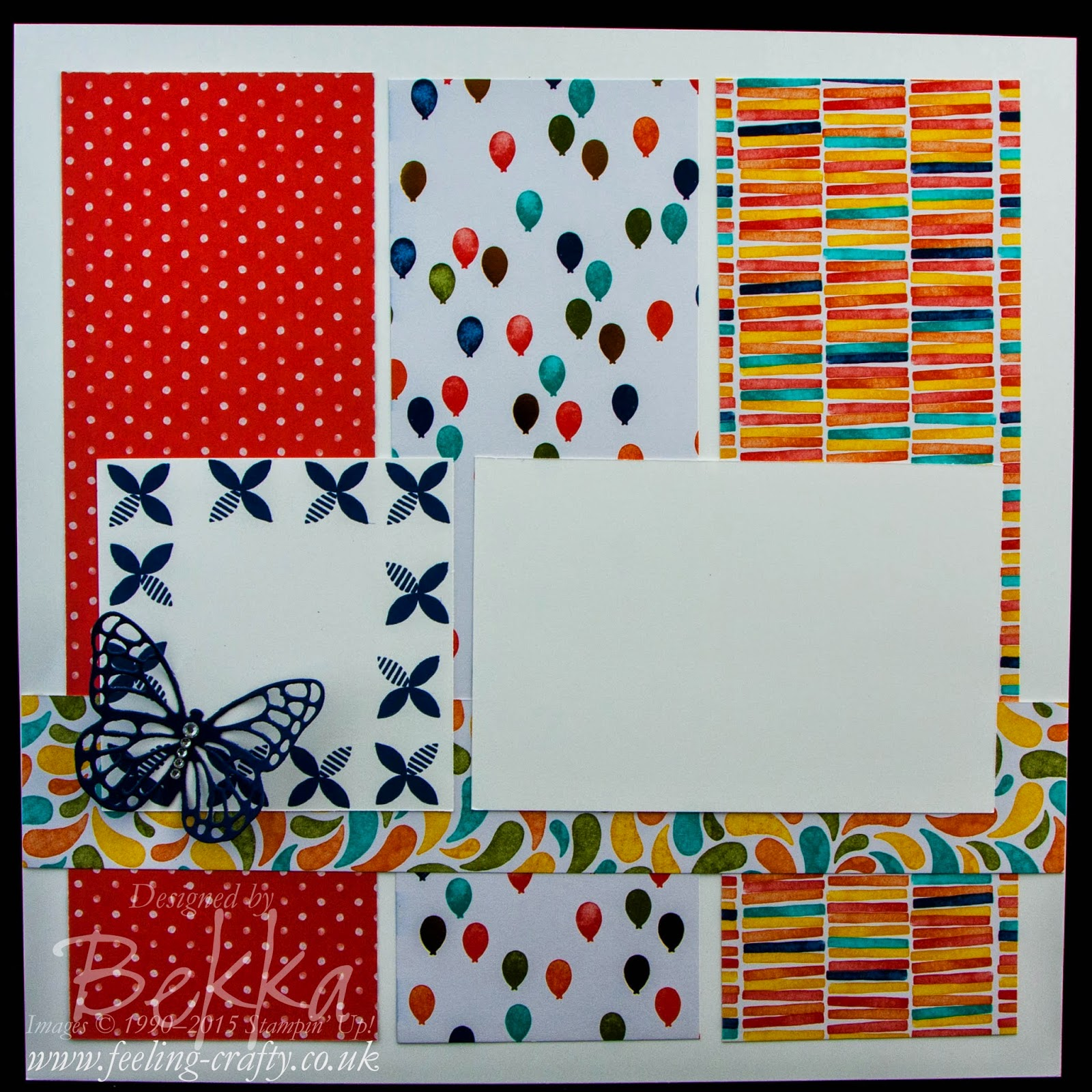 Birthday Bash Scrapbook Start Point - check this blog ever Saturday for Scrapbooking Ideas