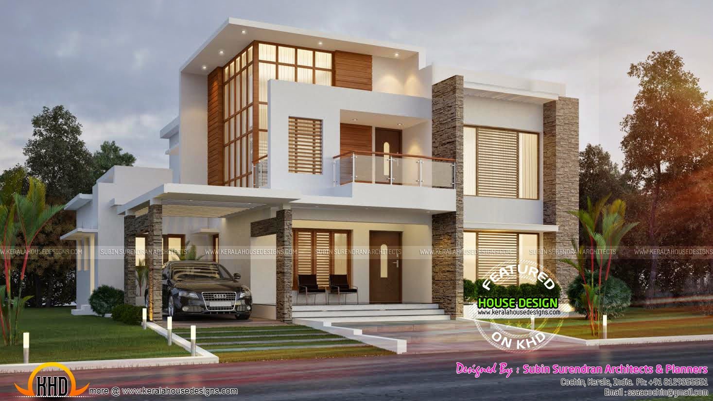 Front Elevation Of 120 Sq Yards House : Square yards contemporary house kerala home design
