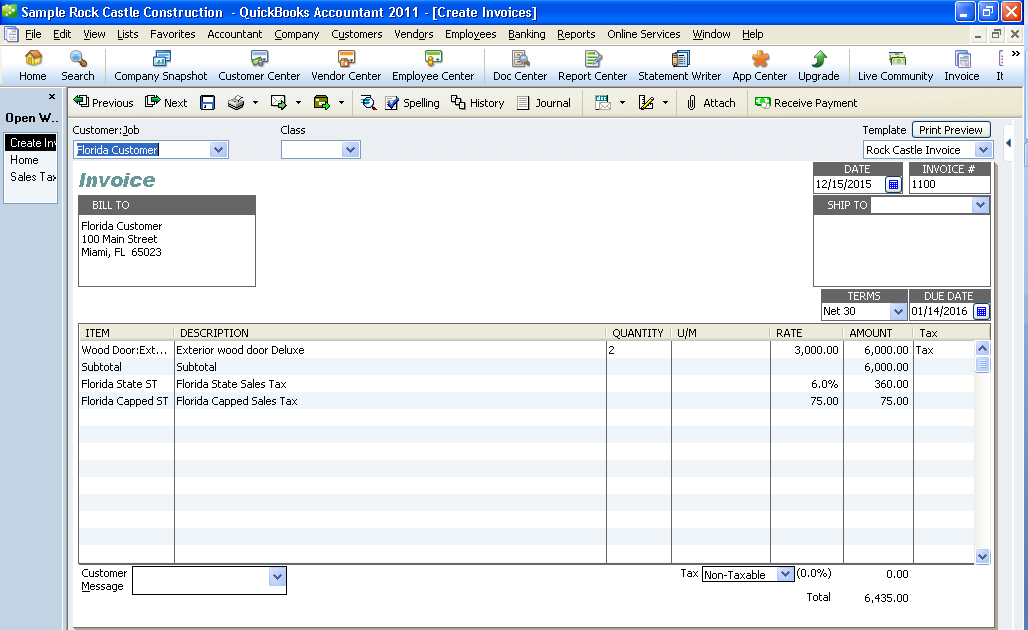 CPA News And Information QuickBooks Tips Tricks Capped Sales Tax - Quickbooks invoice subtotal