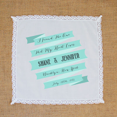 wedding favor handkerchief