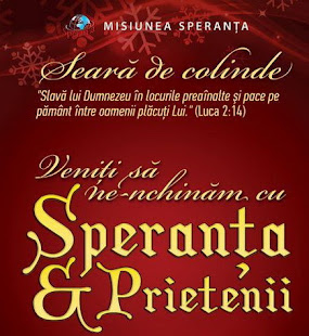 CONCERT DE COLINDE SPERANTA LA CLUJ 21 DEC 2012  ORA 18 LA IULIUS MALL