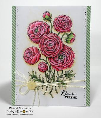 Power Poppy, Instant Garden Release, Ranunculus, Geraniums Take Two, Digital Image, CherylQuilts, Designed by Cheryl Scrivens