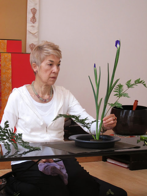 Marcia Shibata showing the second arrangement