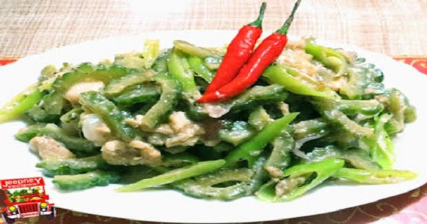 Sautéed Ampalaya in Reduced Coconut Milk Sauce