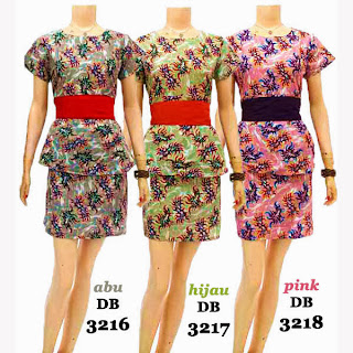 DB3216-3218 Mode Baju Dress Batik Modern Terbaru 2013