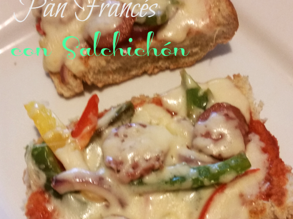 Pizza de Pan Francés con Salchichón #FarmlandRecipes #ForTheLoveOfTheGame #Ad