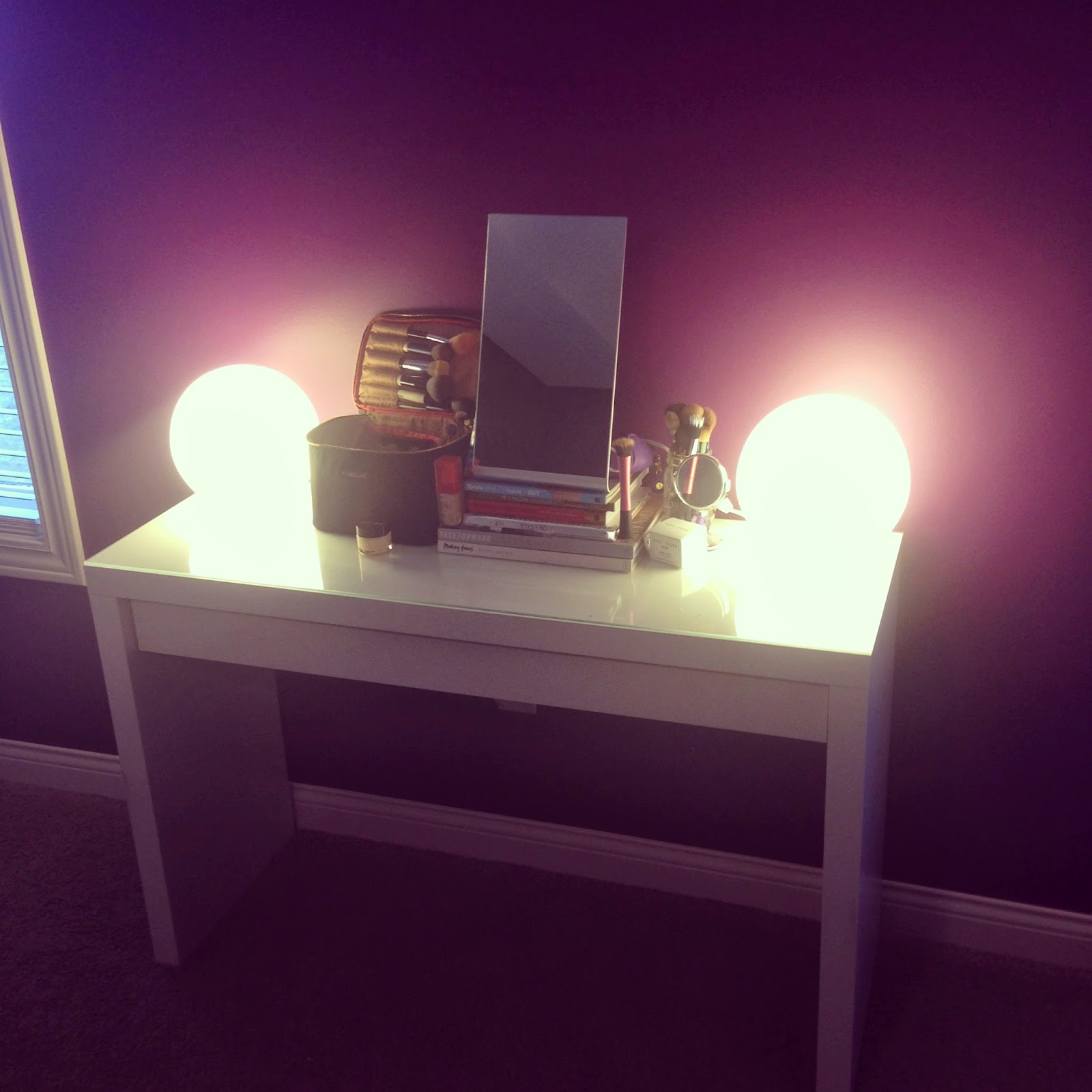 pin makeup mirror lights station diy with ikea bathroom and vanity for