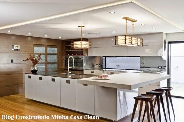 Construindo minha casa clean 12 cozinhas de luxo modernas for Asian inspired kitchen ideas