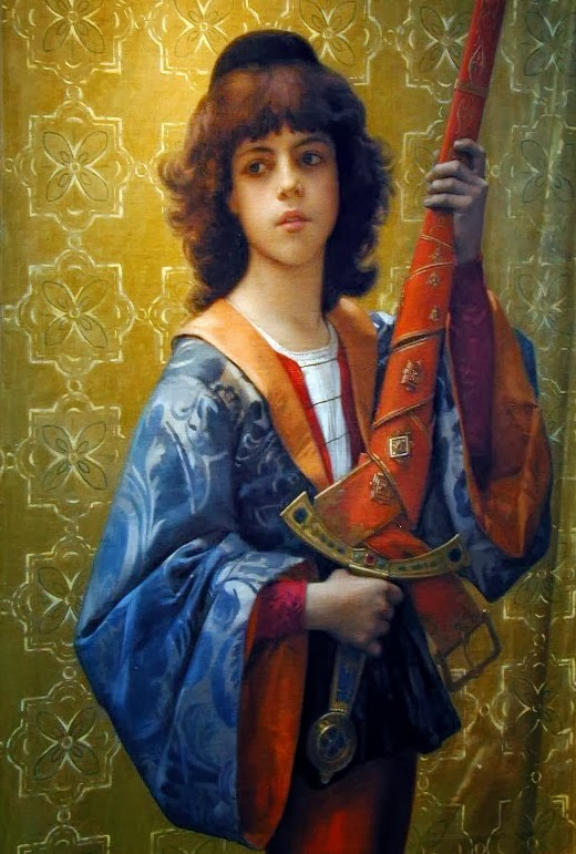 Paige,Alexandre Cabanel,medieval painting