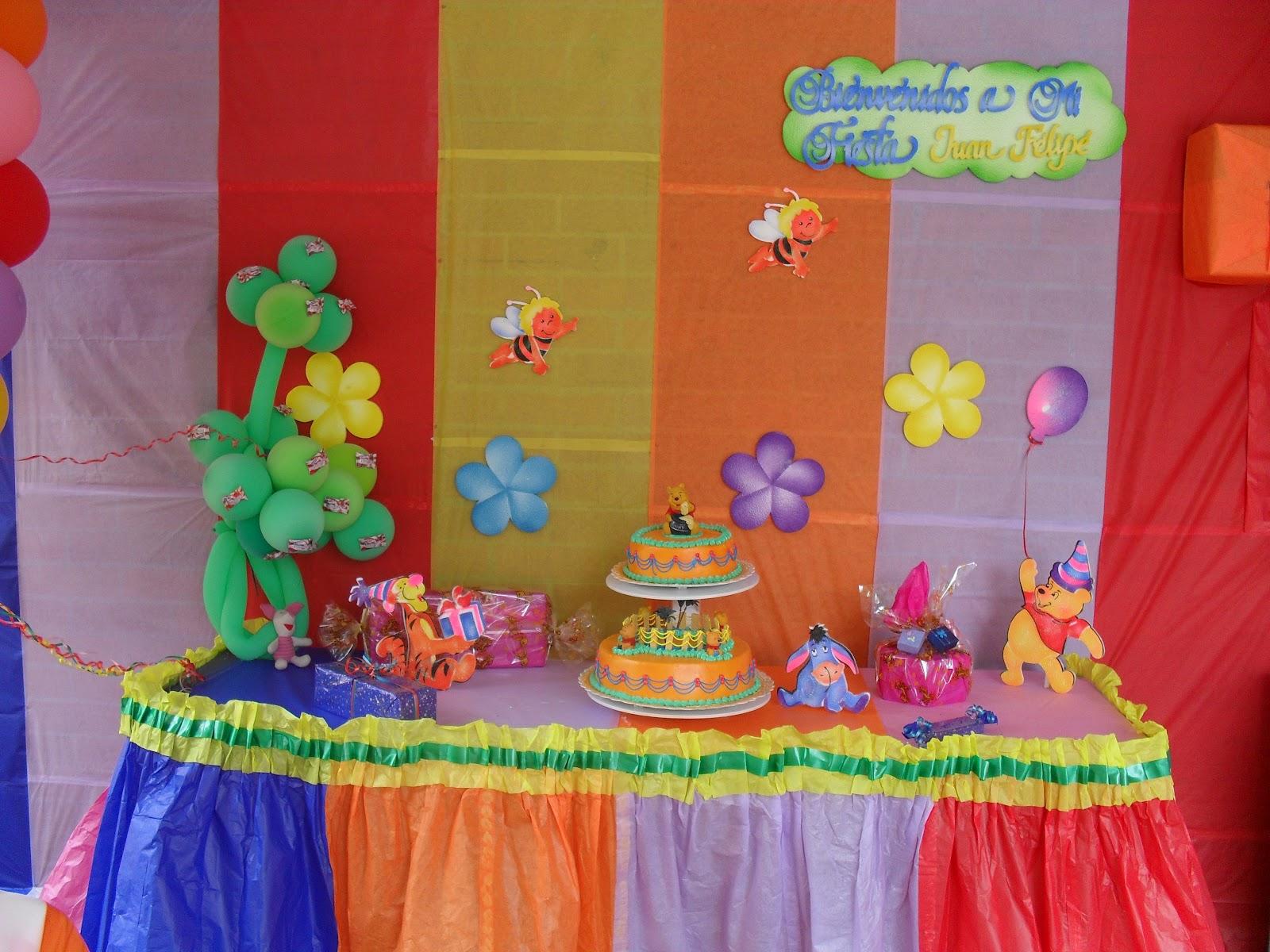 Decoraciones infantiles decoraci n de winnie the pooh for Decoracion winnie pooh para fiesta infantil