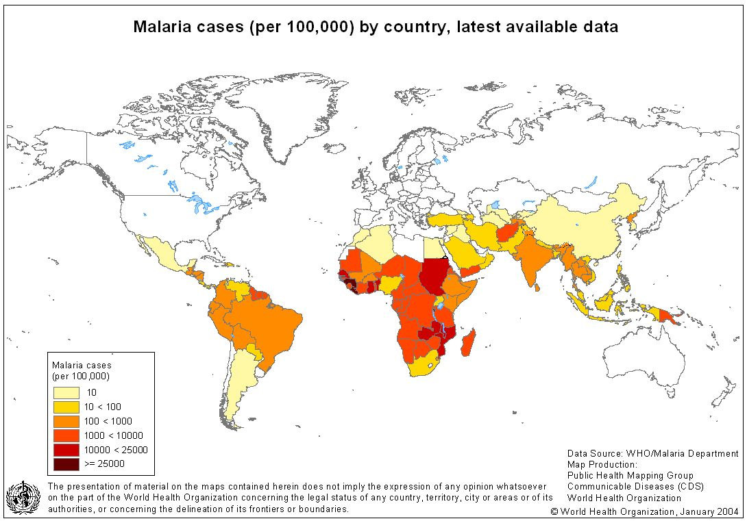 Endemic Countries — Roll Back Malaria