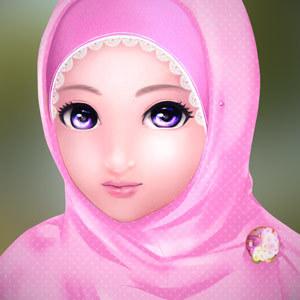 gambar Muslimah kartun cantik