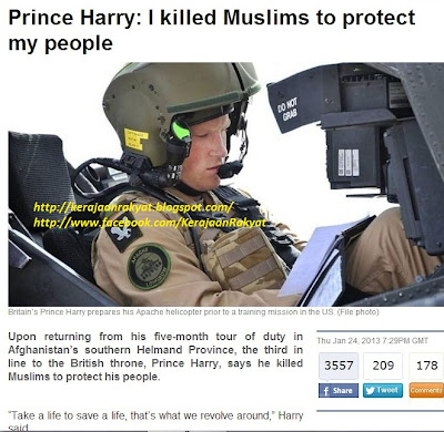 Prince Harry: I killed Muslims to protect my people