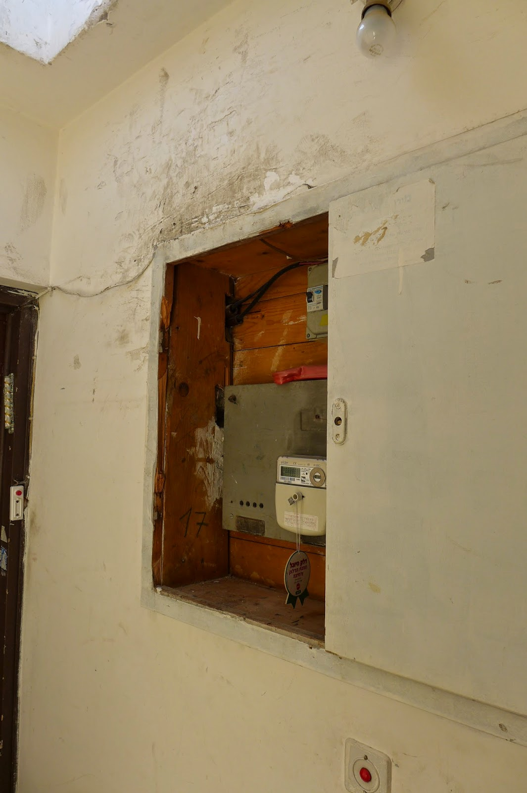 בלשי משטרת מרחב דן שברו דלת ארון חשמל במהלך טיפוס לגג הבנין