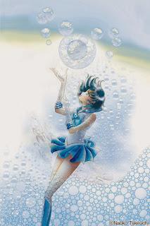 sailor mercury manga cover  ... nowe ilustracje d...