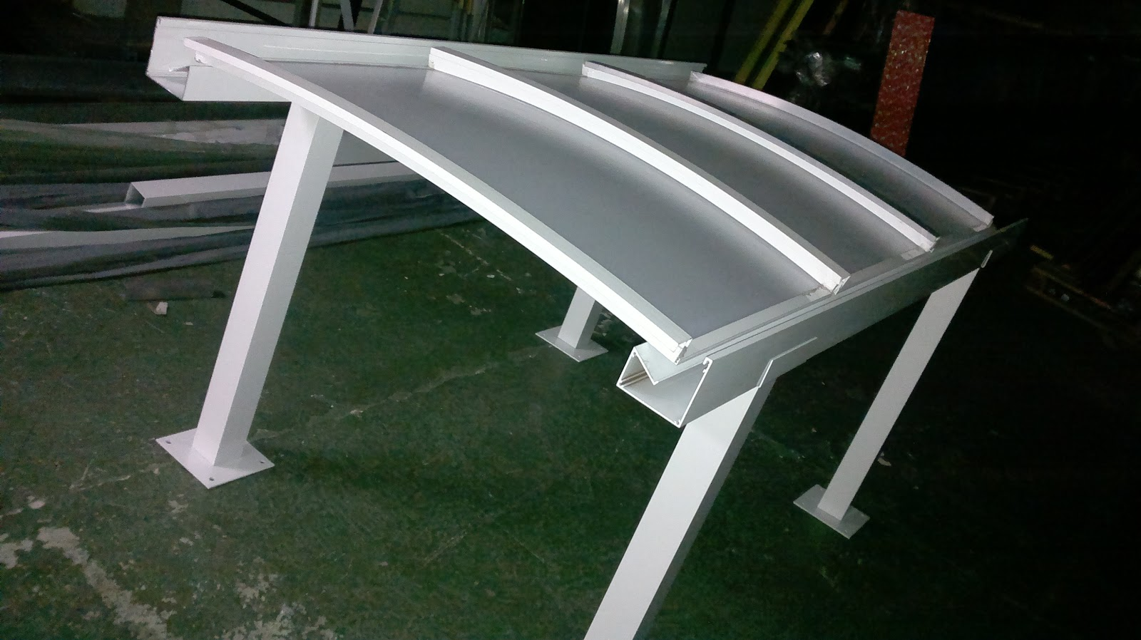 Policarbonato polysolution carport polysolution - Perfiles de aluminio para toldos ...