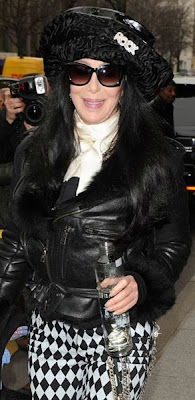 Cher, sporting sunglasses