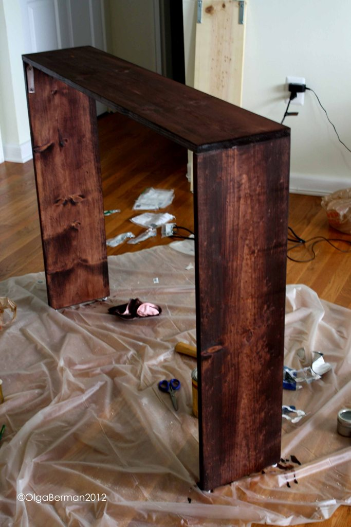 mango tomato diy sofa table project. Black Bedroom Furniture Sets. Home Design Ideas