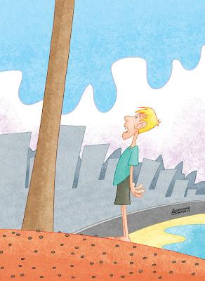 Teste Ilustração Livro Paradidático - por Alexander Santos