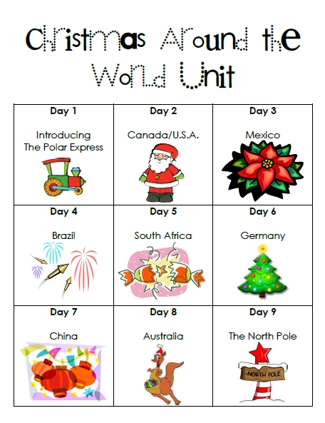 First Grade Garden: Christmas Around the World and Elf on the Shelf!
