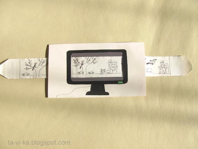 телевизор из бумаги своими руками
