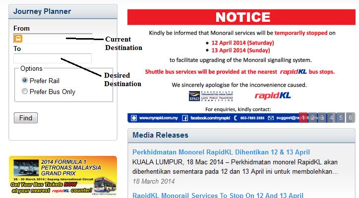 Oh My Public Transport Planning Your Public Transportation Journey In Kl Using Internet Tutorial