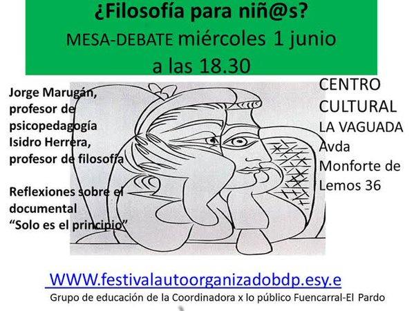 1 junio Debate en CC La Vaguada