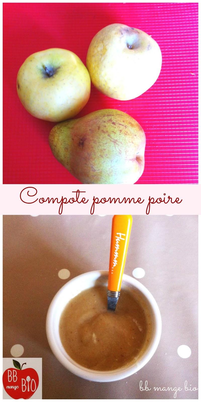 BB mange bio : compote pomme poire dès 6 mois