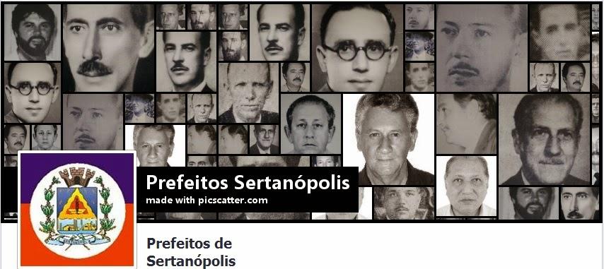 Página 'Prefeitos de Sertanópolis' no Facebook