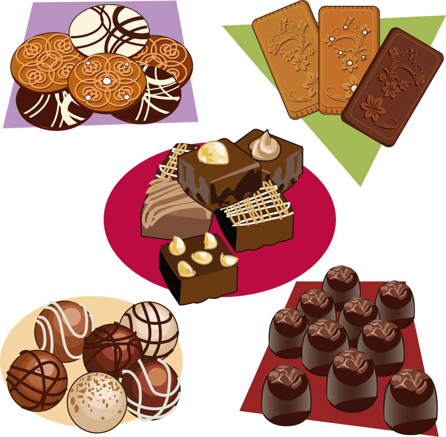 チョコレートのおやつ Chocolate snack vectors イラスト素材