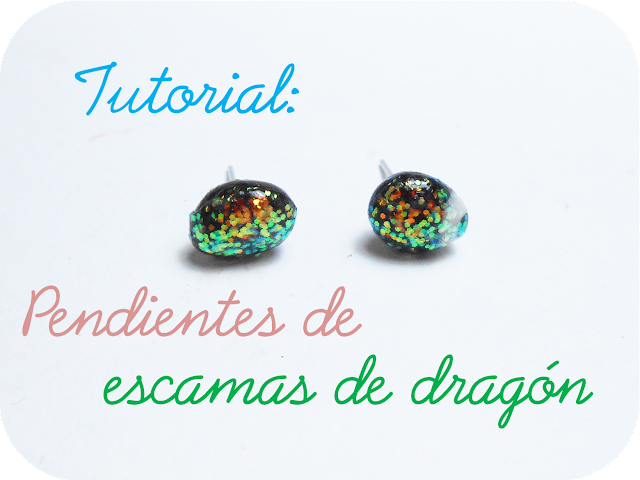 DIY tutorial pendientes de escamas de dragón