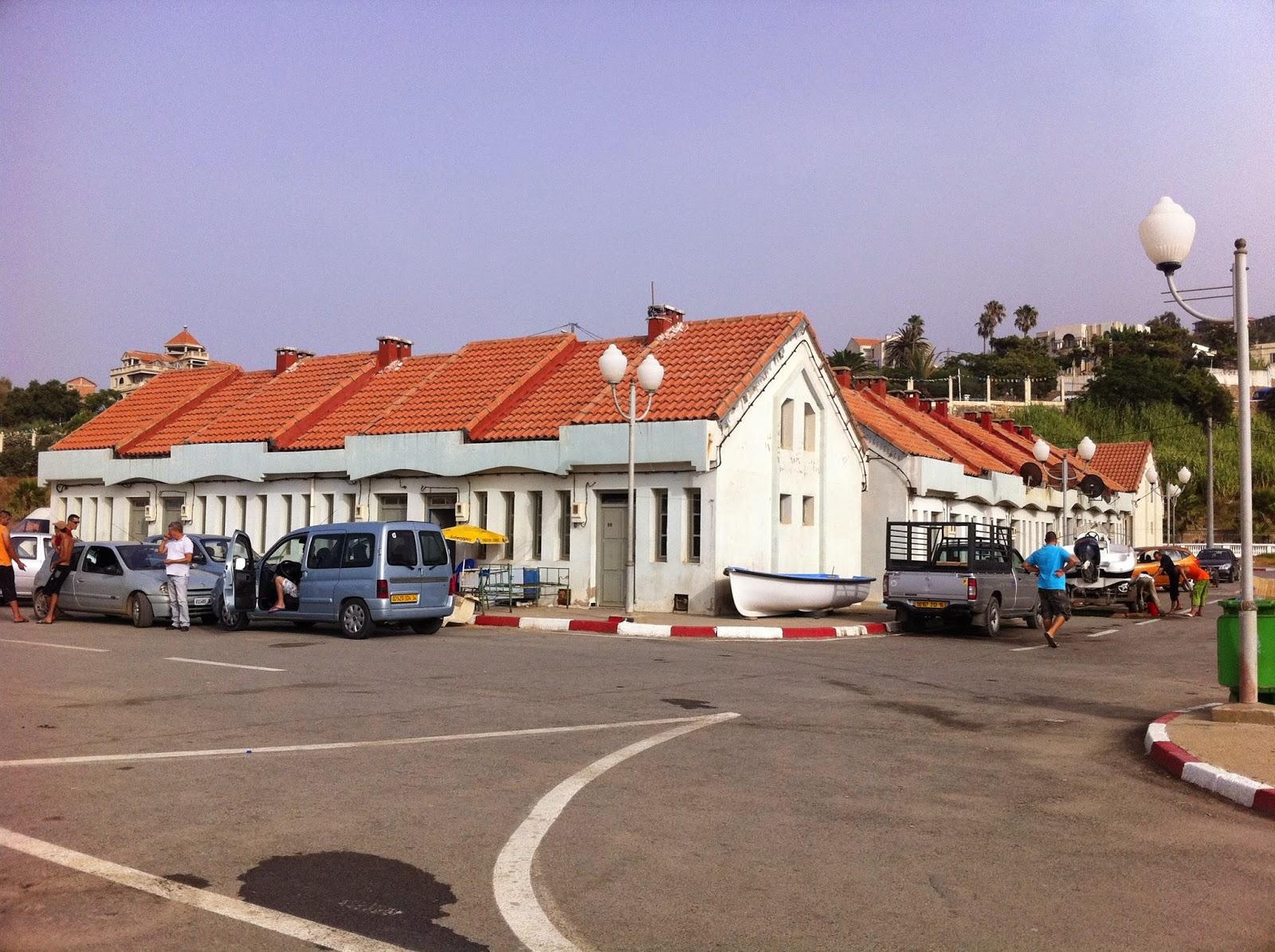 Maisons de pêcheur au port de tigzirt