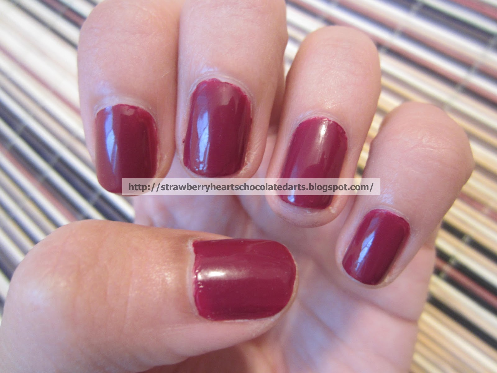 Strawberry Hearts Chocolate Darts: Oxblood Nail Trend: CoverGirl ...