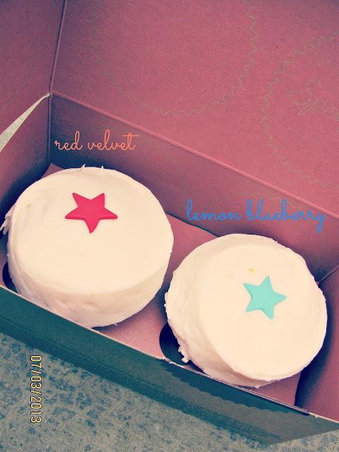 Sprinkles Cupcakes- Red Velvet & Lemon Blueberry