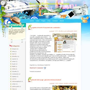 Non Stop Excitement in Panama Blogger Template. free download template blogspot