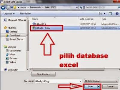 gambar database excel