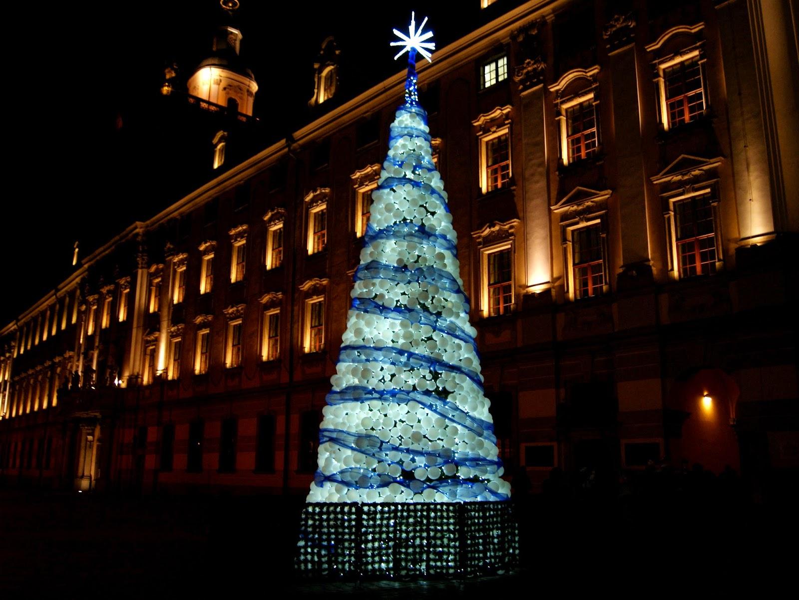 Uniwersytet Wrocławski choinka Wrocław Boże Narodzenie noc