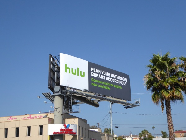 Hulu bathroom breaks billboard
