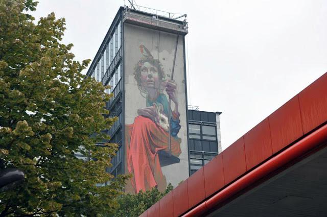 Street Art By Polish Muralist Sainer From Etam Cru In Paris, France. 4