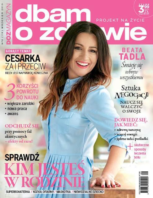journalist @ Beata Tadla - Dbam O Zdrowie Poland, September 2015
