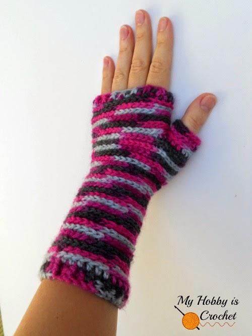 My Hobby Is Crochet Bella Bricks Fingerless Mitts Free Crochet