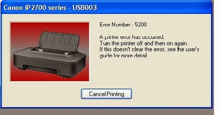 Error 5200 Printer Canon IP 2770