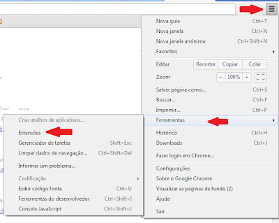 Como remover extensões com vírus no Chrome