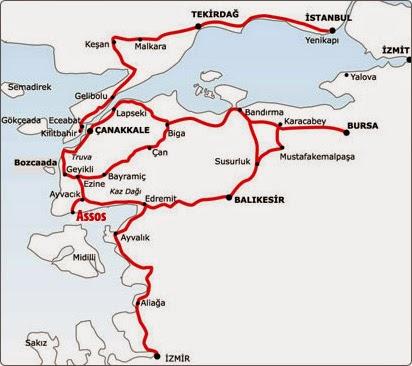 Assos Ulaşım Haritası