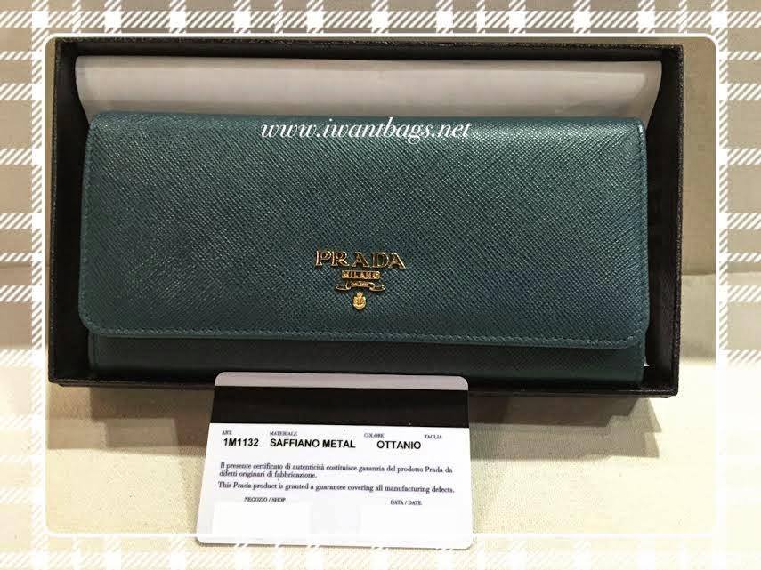 PRADA Saffiano Continental Wallet 1M1132-Ottanio *New Color*