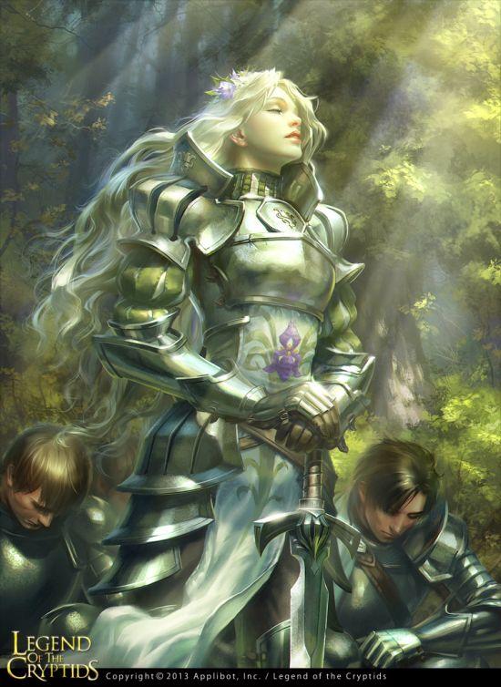 Tatiana Kirgetova  kir-tat deviantart ilustrações fantasia arte conceitual Guerreira da natureza (Legend of the Cryptids)