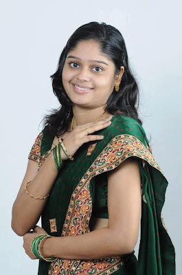 College girl wearing saree on her farewell.
